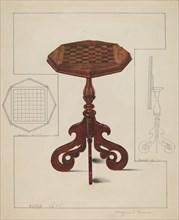 Checker-board Table-tilt Top, c. 1936. Creator: Magnus S. Fossum.