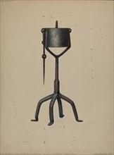 Oil Lamp, c. 1938. Creator: Walter Hochstrasser.