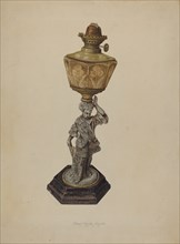 Table Lamp, 1939. Creator: Lloyd Charles Lemcke.