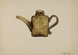 Whale Oil Lamp Filler, c. 1939. Creator: Harry King.