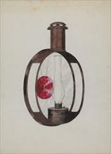 Kerosene Street Car Lamp, c. 1936. Creator: Florence Huston.
