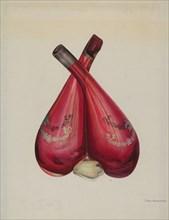 Vinegar and Oil Bottle, c. 1939. Creator: Chris Makrenos.