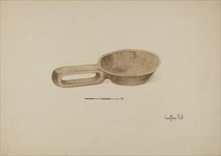 Oil Wood Ladle, 1935/1942. Creator: Geoffrey Holt.