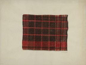 Piece of Wool Plaid, c. 1938. Creator: Raymond Manupelli.