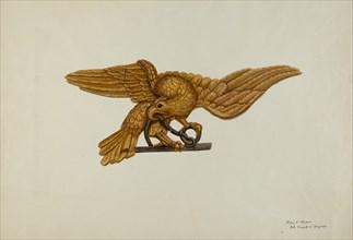 Stern Piece: Eagle, c. 1939. Creator: Mary E Humes.