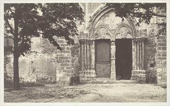 Church of Villeneuve le Comte, Seine-et-Marne (Eglise de Villeneuve le Comte, Seine-et-Marne), 1862. Creator: Charles Marville.