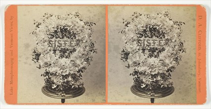 Flower Piece at Kate Bemis' Funeral, April 13, 1886. Creator: D. A. Clifford.