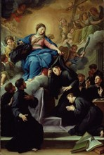 The Madonna with the Seven Founders of the Servite Order, c. 1728. Creator: Agostino Masucci.