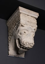 Corbel with Animal Mask with Protruding Tongue from the Monastery Church of Notre... Creator: Unknown.