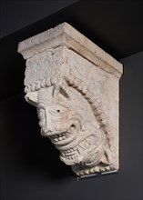 Corbel with Two Animal Masks from the Monastery Church of Notre-Dame-de-la-Grande-Sauve... Creator: Unknown.