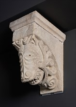 Corbel with Animal Mask Sprouting Leaves from the Monastery Church of Notre-Dame-de-la... Creator: Unknown.