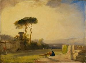 View on the Grounds of a Villa near Florence, 1826. Creator: Richard Parkes Bonington.