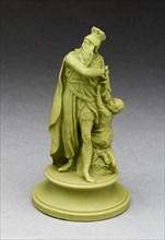 Chess Piece: King, Burslem, Late 18th century. Creator: Wedgwood.