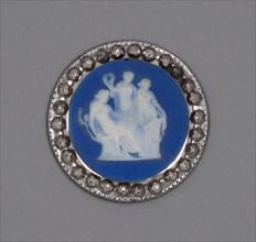 Button with Sacrifice to Hygieia, Burslem, Late 18th century. Creator: Wedgwood.