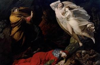 Francesca da Rimini in Dante's Hell, 1810. Creator: Monti, Nicola (1780-1864).