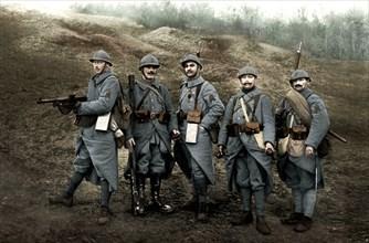 Soldats d'infanterie en 1918