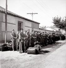 Gardes civils pendant la Guerre civile espagnole en 1936
