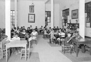 Aide sociale pendant la Guerre d'Espagne, en 1938