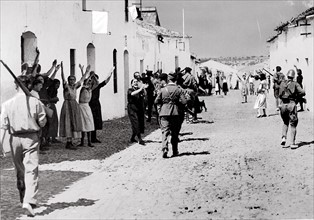The Nationalist troops entering Constantina, 1936