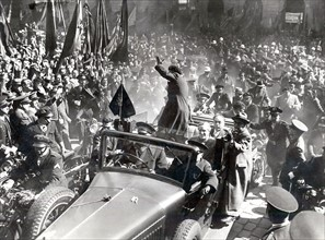 Republican demonstrations in Barcelone, 1936