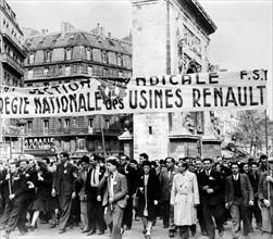 Manifestion du 1er mai 1947