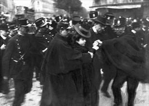 Manifestations syndicales du 1er mai 1906 à Paris