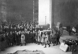 Inhumation du Soldat inconnu à Paris, 1921