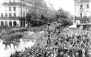 Célébrations du 14 juillet 1916 à Paris