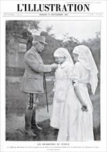 Une de L'Illustration du 8 septembre 1917 : Les Infirmières de Verdun