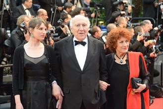 Michel Piccoli et Andrea Ferréol, Festival de Cannes 2013