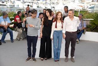 """Equipe du film """"La caméra de Claire"""", Festival de Cannes 2017"""