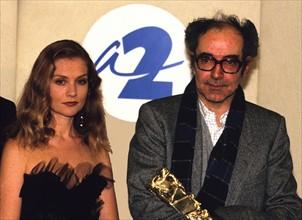 Isabelle Huppert et Jean-Luc Godard