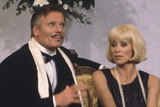 Jean Piat et Mireille Darc, 1984