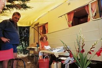France Gall et son père en vacances à Noirmoutier