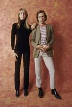 Françoise Hardy et Jean-Paul Goude, 1967