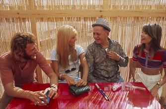Françoise Hardy, Sylvie Vartan et Johnny Hallyday, 1970