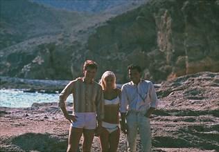Johnny Hallyday, Sylvie Vartan et Jean-Marie Périer