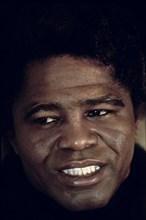 """James Brown, surnommé le """"parrain de la soul music"""", New York"""