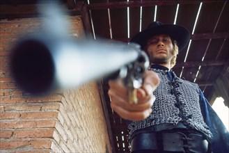 """Johnny Hallyday en Italie pendant le tournage du """"Spécialiste"""""""