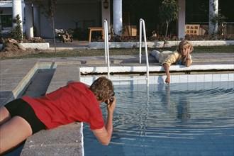 Johnny Hallyday et Sylvie Vartan en Camargue