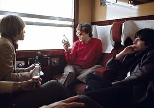 Les Rolling Stones dans le train pour Marseille