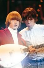 Brian Jones et Mick Jagger