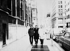 Jean-Marie Périer, Daniel Filipacchi et Régis Pagniez, New York