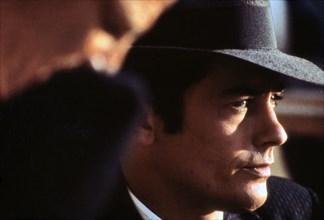Alain Delon sur le tournage de Borsalino