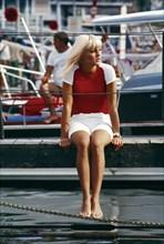 Sylvie Vartan à Saint-Tropez