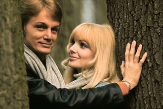 Claude François et sa femme Isabelle, 1969
