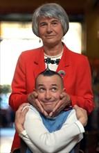 Arturo Brachetti et sa mère