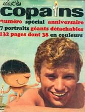 """Johnny Hallyday en couverture de """"Salut les Copains"""""""