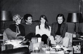 Dani, Jean-Marie Périer, Françoise Hardy, Jean-Paul Goude, 1966