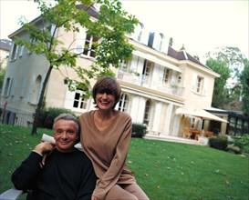 Michel Sardou et sa femme Anne-Marie Périer